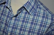 "MARKS AND SPENCER ""BLUE HARBOUR RANGE"" 100%  COTTON CHECK  SHIRT SIZE XL(NEW)"