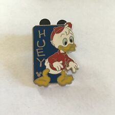 Disney Pin Huey Blue Donald Duck Nephew Hidden Mickey Cast Lanyard Trade Name