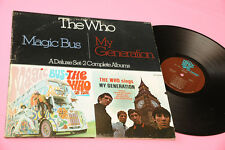 WHO 2LP MAGIC BUS MY GENERATION USA EX+ PROMO EXPORT ONLY TRACK RECORD RARE LABE