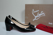 7.5 / 38 Christian Louboutin Pyramidame Stud Black Patent Leather Heel Pump Shoe