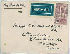 AIRPLANES : INDIA - COVER to ENGLAND 1930