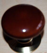 "Stoneware Porcelain Knob Polished Brass Rosette Bifold Closet Door Knob 1.75"""
