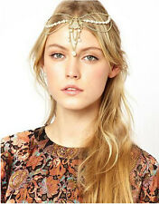 Bohemian Women Pearl Metal Head Chain Forehead Dance Headband Piece HairBand NEW