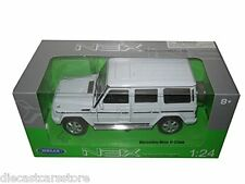 MERCEDES BENZ G CLASS WHITE MADE BY WELLY 1/24 DIECAST CAR 24012W-WH