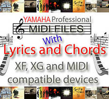YAMAHA XG XF CHORDS & LYRICS 8,000 MIDI SONGS - PSR S950,S750,S650