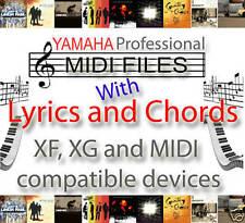 YAMAHA XG XF Corde & testi 8,000 canzoni MIDI-PSR s950, s750, s650