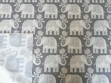 MARSON AMY ELEPHANT GREY WOVEN TAPESTRY REVERSIBLE CURTAIN UPHOLSTERY FABRIC