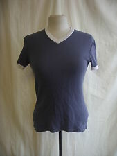 Mens T-Shirt - DKNY, size large, grey, cotton, well worn/used, not perfect 8032