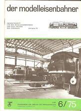 DDR Zeitschrift Modelleisenbahn Der Modelleisenbahner Heft 6 Juni 1975