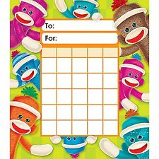 Sock Monkeys Incentive Pad - 36 Charts & 200 Free Sparkle Smile Stickers