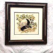 Panda with Bamboo Petit Point Mat & Frame 701