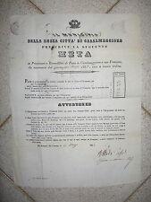 Z234-LOMBARDIA-CASALMAGGIORE PREZZO DEL PANE 1862