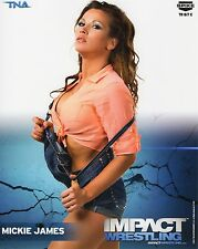 TNA PHOTO MICKIE JAMES IMPACT WRESTLING 8x10 PROMO HOT KNOCKOUT WWE NXT