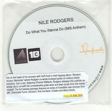 (GI636) Nile Rodgers, Do What You Wanna Do - 2014 DJ CD