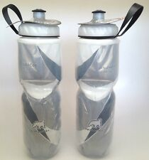 2 PACK POLAR INSULATED WATER BOTTLES 24 OZ OUNCE BLACK WHITE PAIR BPA FREE USA
