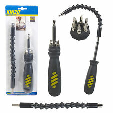 Kinzo 8in1 Flexible Screwdriver & Multi Bit Tool Set Magnet Extension Socket DIY