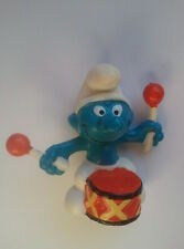 Vintage SMURF FIGURINE (Smurf with Drums) - Schleich 1966 PEYO Hong Kong