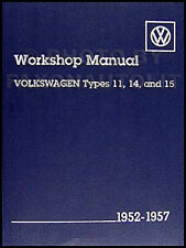 VW Bug Beetle Karmann Ghia Shop Manual 1952 1953 1954 1955 1956 1957 Volkswagen