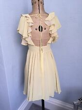 BNWT TopShop UK6 Lemon Yellow Pretty Layered Summer Flirty Tea Dress rrp £50