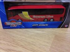TEAMSTERZ CITY COACH BUS TOY FOR 3+ KIDS DESIGN EXPRESS LINE RED 1.50 BOYS