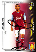 Aston Villa F.C Luke Moore Hand 05/06 Premiership Shoot Out Signed Card.