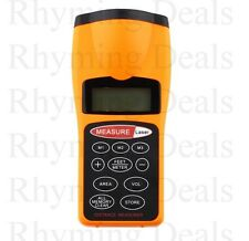 DIGITAL Ultrasonic Distance Meter & Rangefinder Laser Pointer Tape Measure