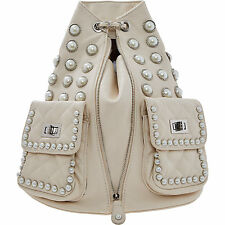 NEW L. CREDI Magnolia Pearl Embellished Backpack 100% PVC