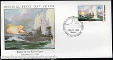 W4 4-4 histoire de la seconde guerre mondiale, îles marshall fdc cover 1989 battle of the river plate