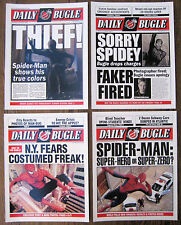 """Spiderman - Daily Bugle Front Page - Poster 8"""" x 11'' Set of Four"""