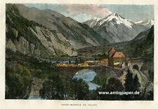 St. Moritz Saint-Maurice en Valais Holzstich ca. 1880