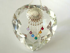 Sterling Silver Chakra Neclace with Swarovski Crystals