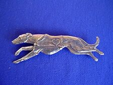 Rescue Racing Greyhound with Heart pin #10E Dog Jewelry by Cindy A. Conter