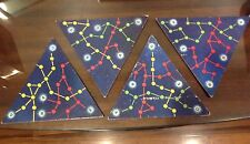 4 Star Trek Space Sector triangles 1979 Milton Bradley vintage board game