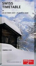 Swiss International Air Lines Timetable  October 28, 2007 =