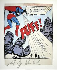 """Andy Warhol, """"SUPERMAN"""" Hand signed, 1986 with Authenticity"""