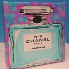 Chanel Cotton Candy Pop Art 6x6 Mini CANVAS Gallery Wrap can HANG or SIT!