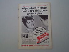 advertising Pubblicità 1959 DENTIFRICIO COLGATE