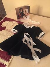 American Girl 1991 Pleasant Company Molly Evergreen Velvet Dress Ribbons Bag!