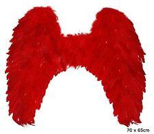 Rote Flügel 70x65 cm groß Federn und Marabu Teufelsflügel rot
