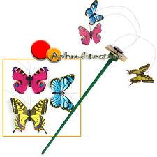 3x Farfalle Volanti ad Energia Solare per Decorazione Casa Vasi Giardino Feste