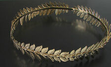 Gold Laurel Leaf Headband Grecian Headdress Roman Hair Crown Festival Bridal 169