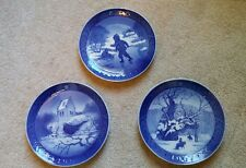3 Vintage Royal Copenhagen Denmark Christmas Collectible Plates 1965, 1966, 1967