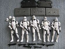 Star Wars Hasbro (5) StormTrooper Saga Legends Bases Extra Weapons 3.75 inch