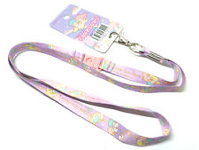 Little Twin Stars Kiki Lala Key Chain Lanyard Neck Strap Key Holder Sanrio DAISO