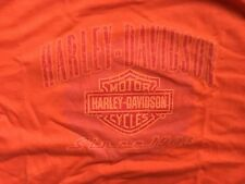 Harley Davidson Bar And Shield Orange Shirt Nwot Men's Large