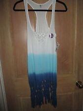 NEW* RIP CURL SURF Sz S Mini Dress Bikini Cover Up $45 Retail Take A Dip Blue