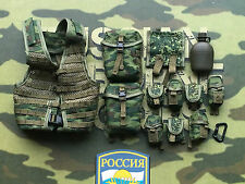 DAMTOYS Russian Airborne PKP Gunner 6SH112 Molle Webbing Set loose 1/6th scale