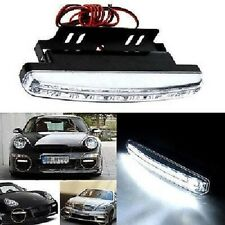 Luz Diurna para coches, 16cm, 8 Leds blancos, mas Soporte, Pack 2 unidades. #288