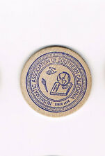 Vintage Wooden Nickel Numismatic Association of Southern California 16th 1971