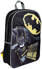 OFFICIAL BATMAN LEGO MOVIE BOYS KIDS 3D EVA LARGE BACKPACK RUCKSACK SCHOOL BAG